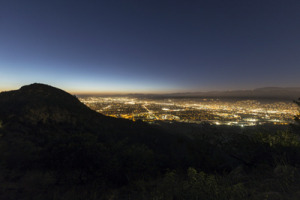 Night view of the San Fernando Valley area we cover for puppy dog training